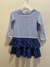Oshkosh Bgosh 4T Navy Stripe and Floral Long Sleeve