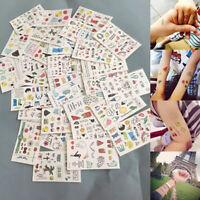 10 Sheets Cute Kids Temporary Tattoo Inspired Body Makeup Sticker TattoS*  mi