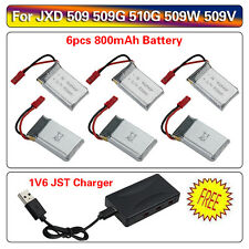 AU Post 6pcs 3.7V 800mAh Battery& 1V6 Charger Kit for JXD 509 509G 509W Drone