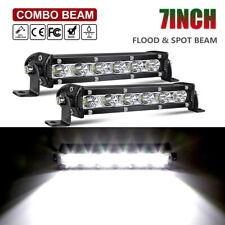 2x 120W 7inch CREE LED Work Lights Bar Spot Light Offroad Vehicle Truck Car Lamp