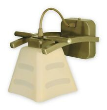 Wall Light - Olive Gold Fitting Cream Glass Shade - Modern Wall Lamp Dining Hall