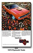 13x19 1970 PLYMOUTH CUDA AD BROCHURE POSTER ART PRINT BARRACUDA 383 440 426 HEMI
