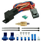ELECTRIC FAN THERMOSTAT TEMPERATURE ENGINE GROUND SENSOR A/C OVERRIDE SWITCH KIT