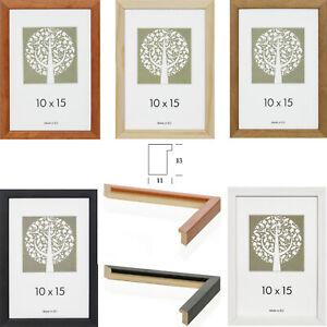 Bilderrahmen Holz 10x15 13x18 15x20 15x21 20x20 20x30 21x30 (A4) 30x30