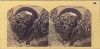 Pont Sant' Louis Menton Francia Italia Vintage Stereo Albumina Ca 1865