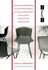 MID CENTURY 1950's Eames Knoll Bertoia SEDIE Pubblicità A3 POSTER STAMPA RE