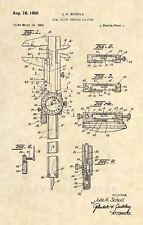 Official Dial Vernier Caliper US Patent Art Print - Vintage Antique Engineer 475