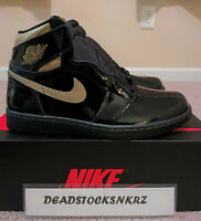 2020 Nike Air Jordan 1 Retro High OG Black Metallic Gold 555088 032 GS & Men Sz