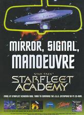 """Star Trek Academy """"Mirrir, Signal, Manoeuvre"""" 1997 Magazine Advert #4285"""