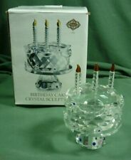 Shannon Crystal Birthday Cake Sculture Figurine by Godinger 19C030