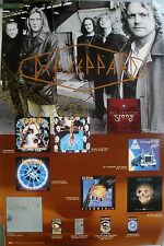 RARE DEF LEPPARD SLANG 1996 VINTAGE ORIG 2 SIDED MUSIC RECORD STORE PROMO POSTER