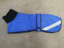 "Greyhound Waterproof Hi Viz Stripe, Padded and Fleece Lined Snood Coat 30"" BLUE"