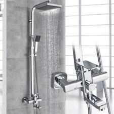 Duchas Conjunto de Ducha Grifo Sistema de Ducha de Lluvia Barra Adjustable Cromo