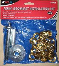 Tarp / Tent / Awning / Pool Cover Grommet Repair Kit Set w/punch & seat