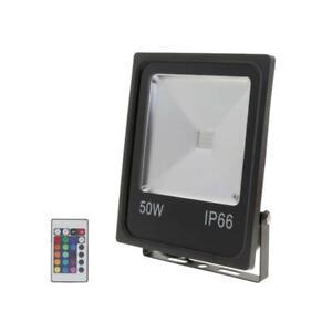Projecteur LED RGB 50W Extérieur IP66 Plat NOIR - Noir