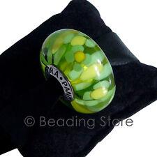 NEW Pandora Green Blossom Oversized Large XL Murano Glass Charm Bead ALE 790754