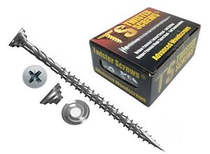 Twister Wood Screws Patented screw design Self Drilling/Countersinking sharp