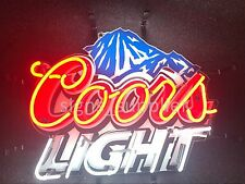 """New Coors Light Mountain Neon Sign 19""""x15"""" with HD Vivid Printing Technology"""