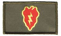 "25th Infantry Division 2"" x 3"" Hook & Loop 2 Piece Green Patch EC73447 Licensed"