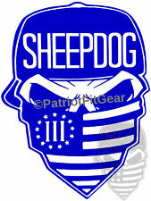 SHEEPDOG,Skull,3%,2A,Military,Militia,#2A,DTOM,Molon Labe,Sheep Dog,vinyl decal