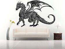 Wall Room Decor Art Vinyl Sticker Mural Decal Tribal Monster Dragon Draco FI575