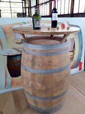 225L Weinfass,Holzfass,Deko,Eichenfass,Barrique,Stehtisch 110 cm + Tischplatte.