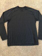 Mens Lululemon Long Sleeve Metal Vent Shirt, Xl, Dark Blue