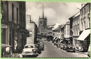 Ireland Enniskillen Church Street Vintage Postcard