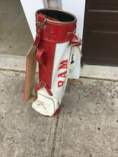 Vintage Ram Featherlite Golf Bag Red & White