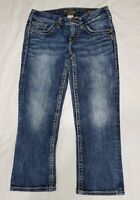 SILVER Jeans Distressed Aiko Capri Jeans Womens Size 25