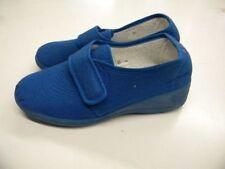 chaussures neuve 36 bleu tissu  senior femme petit talon 4cm c11