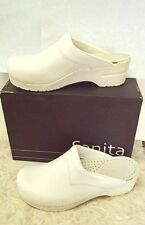 NEW Sanita Kerry 8.5-9/39 Professional Clog Shoes White Faux Leather Nursing