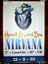 Nirvana RARE M UK 1993 Org GIANT Promo Poster 40x60 Heart-Shaped Box Kurt Cobain