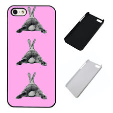 Bunny laying pattern pink plastic phone Case Fits iPhone