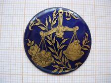Petit médaillon émail balance émaillé bijoux montre enamel zodiaque p16