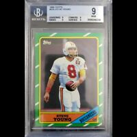 Steve Young Topps 1986 BGS 9 (9,9,9,9) Quads! #216 Mint Rookie RC