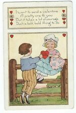 Vintage Postcard I want to send a Valentine, Whitney Made