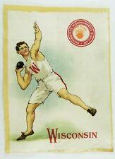 C.1910 University of Wisconsin Sports Tobacco Silk Vintage Original #4