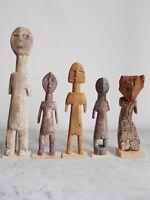 Lot de 5 statuettes AKLAMA ADAN ADE ADA EWE ART TRIBAL AFRICAIN ETHNOLOGIE