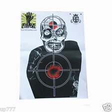 10 Pcs Target Sheet Paper Zombie Round Shoot Practice Game High Quality Hunting