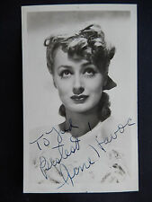 "June Havoc Autographed 3 1/4"" X 5 1/2"" Photograph Postcard from Estate"