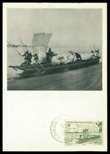 AOF MK 1952 NIGER SCHIFF SHIP BOAT MAXIMUMKARTE CARTE MAXIMUM CARD MC CM h0400