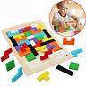 Bunt Hölzern Tangram Puzzle Tetris Spielzeug Geometrie Lernspiel Formenspiel DE