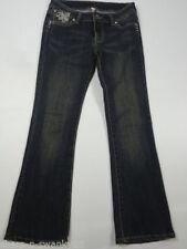Damen-Bootcut-Jeans aus Denim mit niedriger Hosengröße W27 (en)