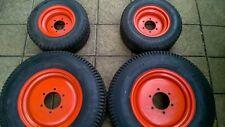 Kubota Compact Mini Garden Tractor set of Turf Tyres Wheels