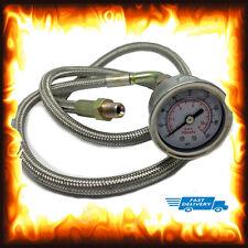 "36"" Long Remote Oil Pressure Gauge Kit Injection Testing Test 160 PSI 1/8 NPT"