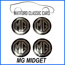 MG Midget Wheel Centre Badges for Rostyle Wheels Set of 4