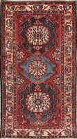 Antique Geometric Bakhtiari Oriental Hand-Knotted Area Rug Wool 6'x10'