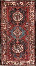 Antique Geometric Bakhtiari Oriental Hand-Knotted Area Rug Wool 6'x10'