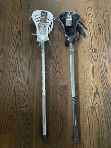 🔥BRAND NEW 2x Under Armour Strategy Lacrosse Sticks STX Warrior Epoch Wht & Blk